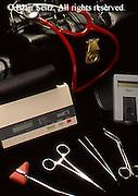 Still life, Medical Doctor Tools, Physicians Small Manual Equipment