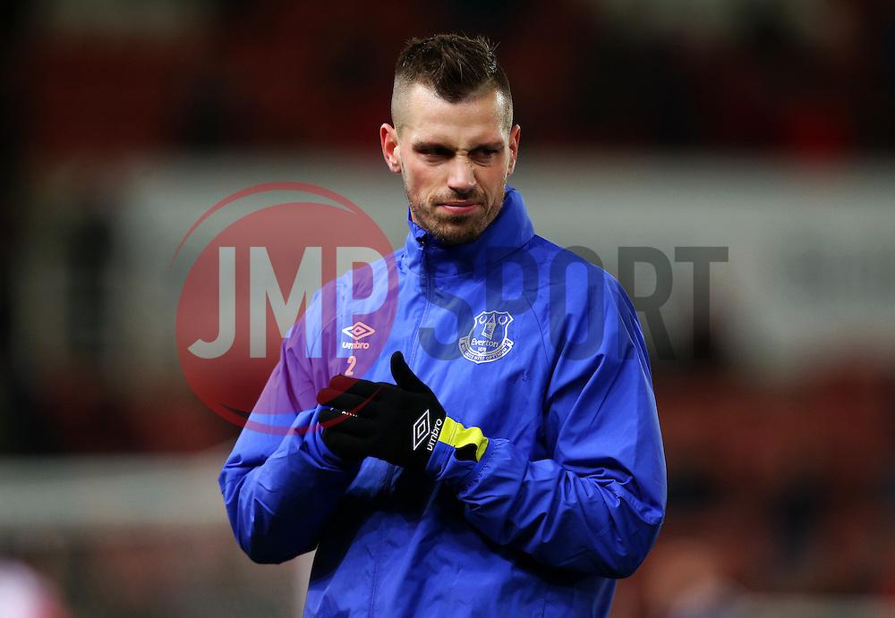 Morgan Schneiderlin of Everton warms up - Mandatory by-line: Matt McNulty/JMP - 01/02/2017 - FOOTBALL - Bet365 Stadium - Stoke-on-Trent, England - Stoke City v Everton - Premier League