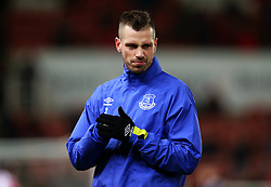 Morgan Schneiderlin of Everton warms up - Mandatory by-line: Matt McNulty/JMP - 01/02/2017 - FOOTBALL - Bet365 Stadium - Stoke-on-Trent, England - Stoke City v Everton - Premier League