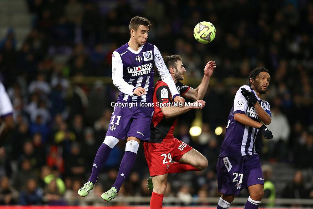 Aleksandar Pesic / Christophe Kerbrat  - 20.12.2014 - Toulouse / Guingamp - 19eme journee de Ligue 1 <br /> Photo : Manuel Blondeau / Icon Sport