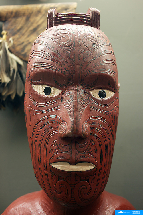 Artefacts at The Tangata Whenua Gallery at the Otago Museum..The gallery was redeveloped in 1990 to coincide with the 150th anniversary of the signing of the Treaty of Waitangi. For the redevelopment, Otago Museum Curators liaised with local Maori to create a gallery in which all would feel comfortable and welcome. The aim was to tell the stories of the makers and users of the artefacts on display.The Museum works closely with representatives of Ngai Tahu, the southern iwi or tribe, to ensure that displays are culturally appropriate..  Otago, New Zealand. 25th March 2011. Photo Tim Clayton.