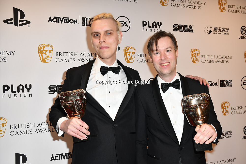 Winner: Yoku Island by Linus Larsson and Jens Anderson at the British Academy (BAFTA) Games Awards at Queen Elizabeth Hall, Southbank Centre  on 4 March 2019, London, UK.