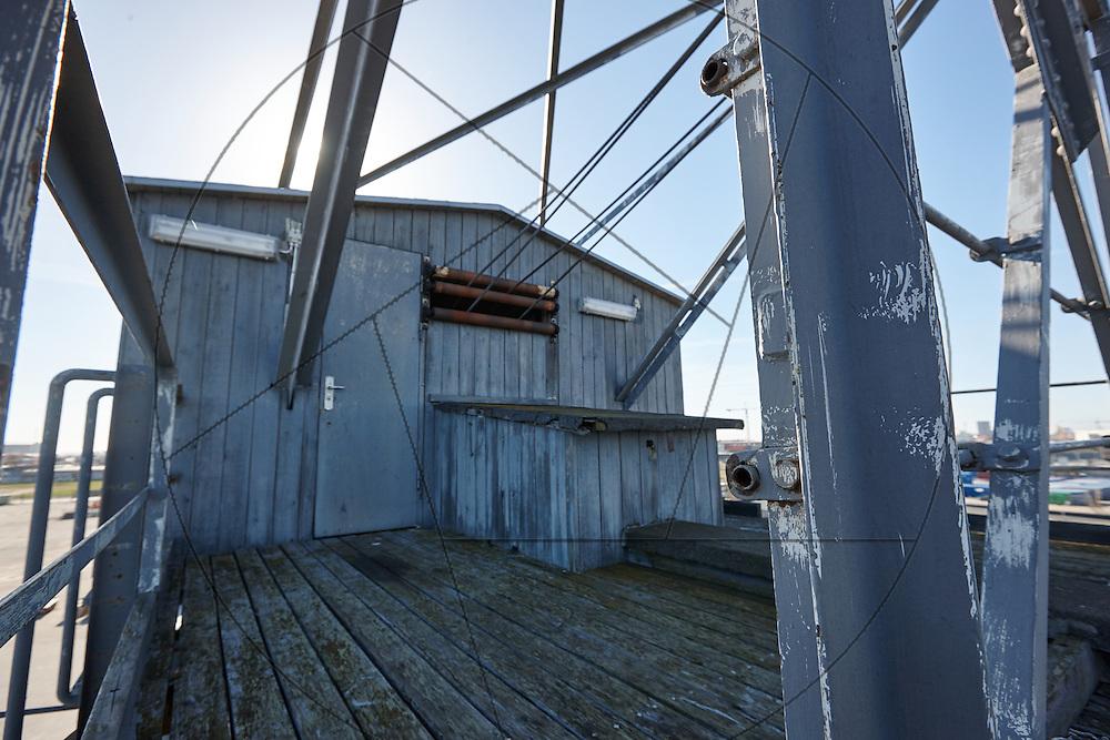 UNIONKUL, kran, Nordhavn, inden restaurering, dæk, maskinhus