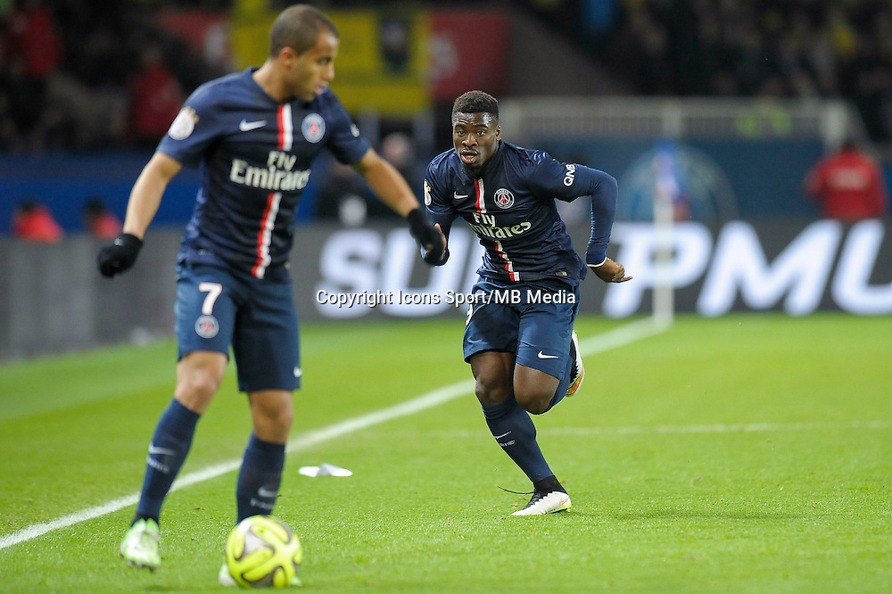 Lucas Moura / Serge Aurier - 06.12.2014 - PSG / Nantes - 17eme journee de Ligue 1<br />Photo : Andre Ferreira / Icon Sport
