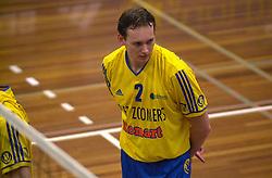15-02-2001 VOLLEYBAL: PIET ZOOMERS D - IZUMRUD EKATARINENBURG: APELDOORN<br /> Top Teams Cup - Justin Sombroek<br /> &copy;2001-WWW.FOTOHOOGENDOORN.NL