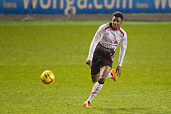 BLACKPOOL, ENGLAND - Wednesday, December 18, 2013: Liverpool's Jerome Sinclair in action against Blackpool during the FA Youth Cup 3rd Round match at Bloomfield Road. (Pic by David Rawcliffe/Propaganda)