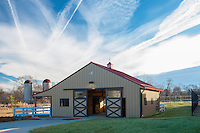 Exterior photo of Montgomery County Animal Shelter in Gaithersburg MD by Jeffrey Sauers of Commercial Photographics In Washington DC, Virginia to Florida and PA to New England
