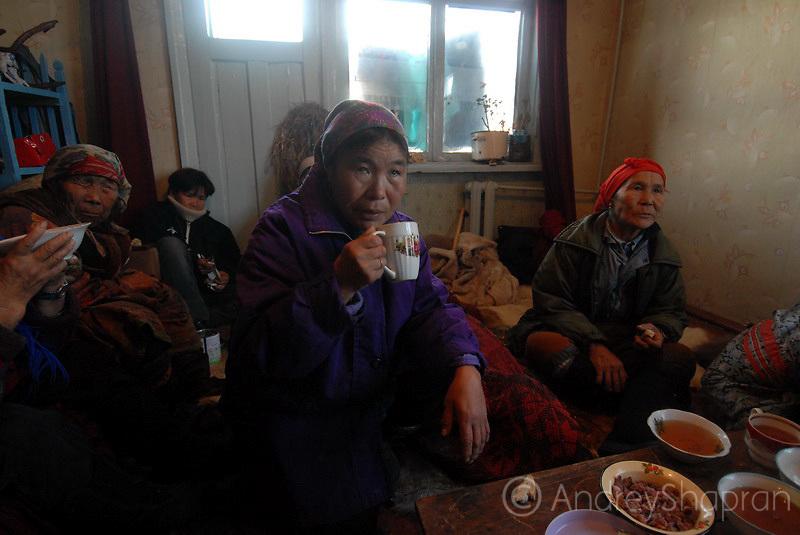 Chukchi funeral. The Kamchatka Peninsula, Russia