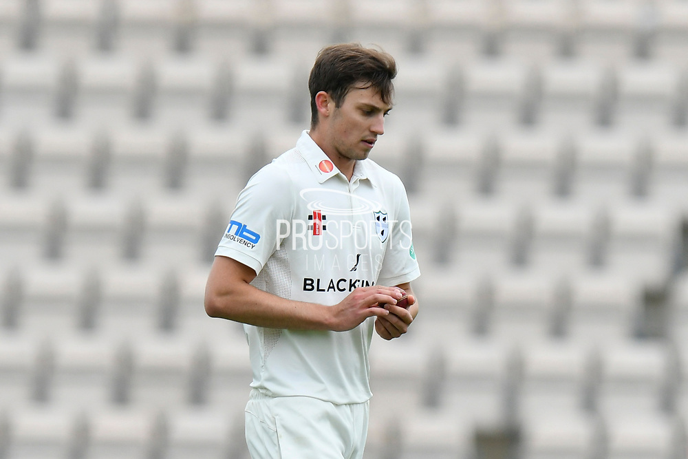 Ed Barnard of Worcestershire during the Specsavers County Champ Div 1 match between Hampshire County Cricket Club and Worcestershire County Cricket Club at the Ageas Bowl, Southampton, United Kingdom on 13 April 2018. Picture by Graham Hunt.