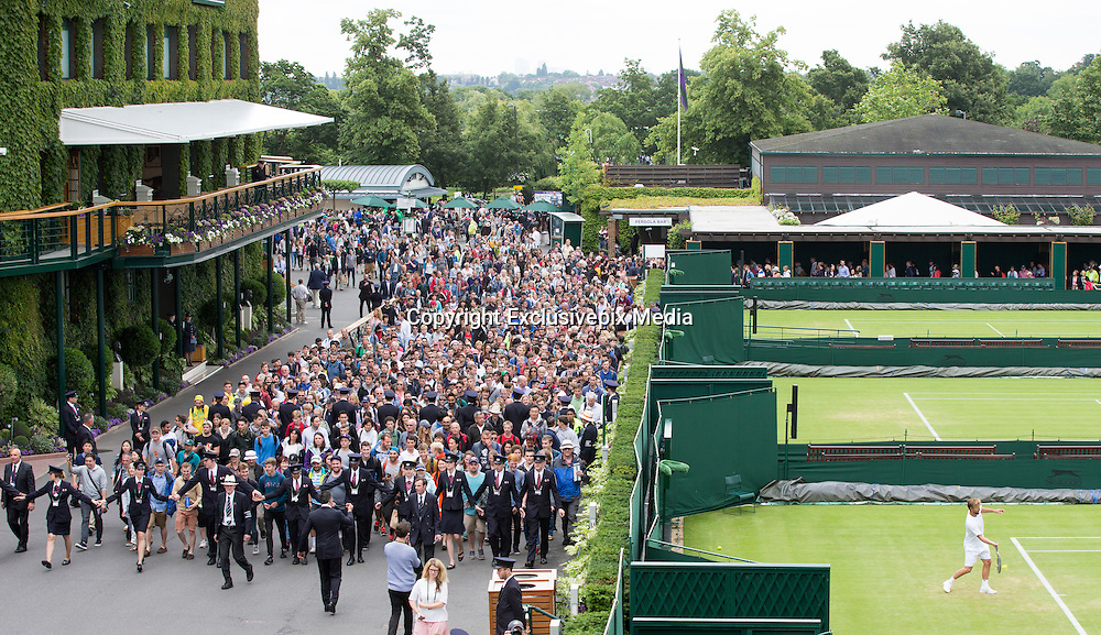 WIMBLEDON - UK - 27th June 2016: The Wimbledon Tennis Championships start at the All England Lawn Tennis Association, Wimbledon. S.E. London.<br /> &copy;Exclusivepix Media