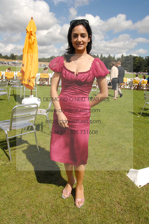 Actress ARCHIE PANJABI at the final of the Veuve Clicquot Gold Cup 2007 at Cowdray Park, West Sussex on 22nd July 2007.<br />
