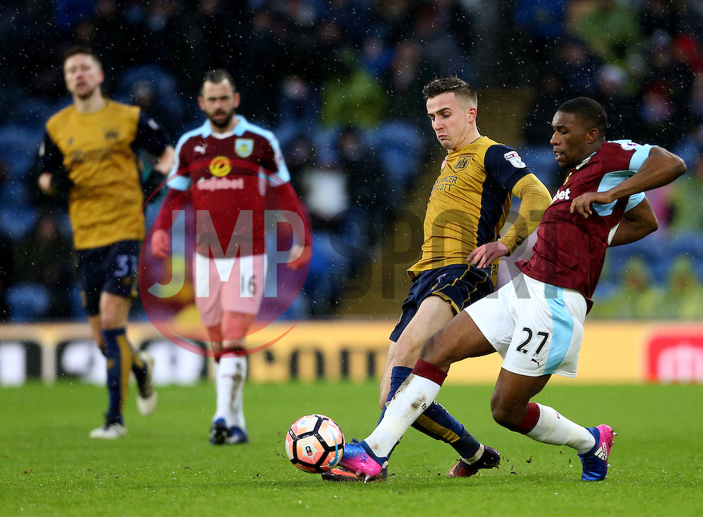 Tendayi Darikwa of Burnley and Joe Bryan of Bristol City - Mandatory by-line: Matt McNulty/JMP - 28/01/2017 - FOOTBALL - Turf Moor - Burnley, England - Burnley v Bristol City - Emirates FA Cup fourth round