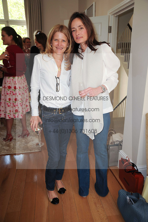 Katherine Francey and Sarah Tyser at a party hosted by Maria Hatzistefanis to celebrate the publication of Santa Montefiore's new book 'The Affair' held at 35 Walpole Road, London on 27th April 2010.