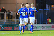 GOAL Matty Lund celebrates scoring 2-0 during the EFL Sky Bet League 1 match between Rochdale and Swindon Town at Spotland, Rochdale, England on 19 November 2016. Photo by Daniel Youngs.