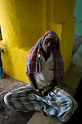Man at rest in Dargah in Nagore.