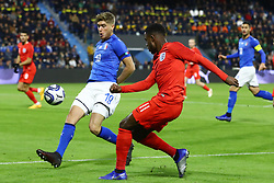 FILIPPO ROMAGNA (ITALY) VS RYAN SESSEGNON (ENGLAND)     <br /> Football friendly match Italy vs England u21<br /> Ferrara Italy November 15, 2018<br /> Photo by Filippo Rubin