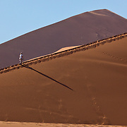 Calf Work Out- Sossusvlei Sand Dunes in Namibia.