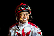 DEL MAR CA - JULY 16:  Jockey, Mike Smith at Del Mar on July 16, 2016 in Del Mar, California. (Photo by Alex Evers/Eclipse Sportswire/Getty Images)