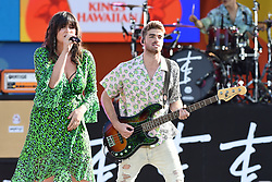 August 10, 2018 - New York, NY, USA - August 10, 2018 New York City..Emily Warren with Drew Taggart of The Chainsmokers performing on Good Morning America's Summer Concert Series in Central Park on August 10, 2018 in New York City. (Credit Image: © Kristin Callahan/Ace Pictures via ZUMA Press)