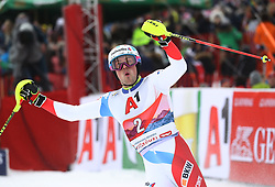 26.01.2020, Streif, Kitzbühel, AUT, FIS Weltcup Ski Alpin, Slalom, Herren, 2. Lauf, im Bild Der Sieger: Daniel Yule (SUI) // reacts after his 2nd run in the men's Slalom of FIS Ski Alpine World Cup at the Streif in Kitzbühel, Austria on 2020/01/26. EXPA Pictures © 2020, PhotoCredit: EXPA/ SM<br /> <br /> *****ATTENTION - OUT of GER*****