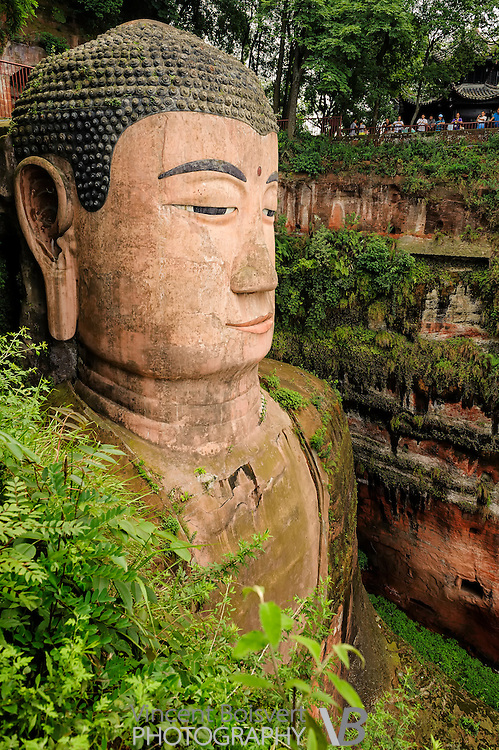 The Leshan Giant Buddha was carved out of a cliff face of mount Lingyun that lies at the confluence of the Minjiang, Dadu and Qingyi rivers in the southern part of Sichuan province in China, near the city of Leshan.  The Mount Emei Scenic Area, including Leshan Giant Buddha Scenic Area has been listed as a UNESCO World Heritage Site since 1996.