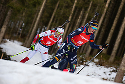 Lisa Vittozzi (ITA), Monika Hojnisz-Starega (POL) during the Mass Start Women 12,5 km at day 4 of IBU Biathlon World Cup 2019/20 Pokljuka, on January 23, 2020 in Rudno polje, Pokljuka, Pokljuka, Slovenia. Photo by Peter Podobnik / Sportida