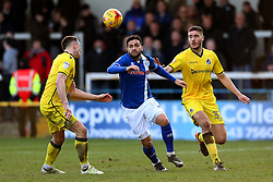 Ollie Clarke of Bristol Rovers and Reuben Noble-Lazarus of Rochdale - Mandatory by-line: Matt McNulty/JMP - 04/02/2017 - FOOTBALL - Crown Oil Arena - Rochdale, England - Rochdale v Bristol Rovers - Sky Bet League One