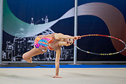 Rebecca Di Siena from Rhytmic School team during the Italian Rhythmic Gymnastics Championship in Padova, 25 November 2017