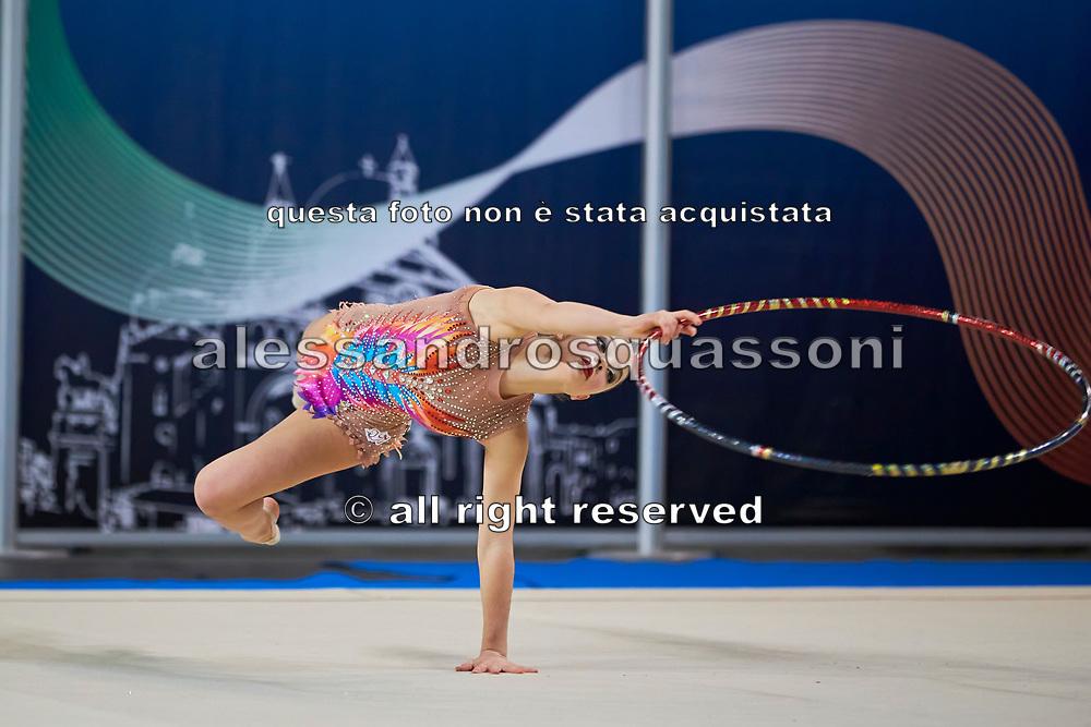 Rebecca Di Siena from Rhytmic School team during the Italian Rhythmic Gymnastics Championship in Padova, 25 November 2017