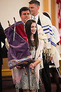 Lauren Miller celebrates her Bat Mitzvah with family and friends at Congregation Shir Hadash in Los Gatos, California, on March 8, 2014. (Stan Olszewski/SOSKIphoto)