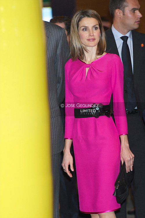 Prince Felipe of Spain and Princess Letizia of Spain attend the inauguration of ARCO fair 2012 at Ifema in Madrid