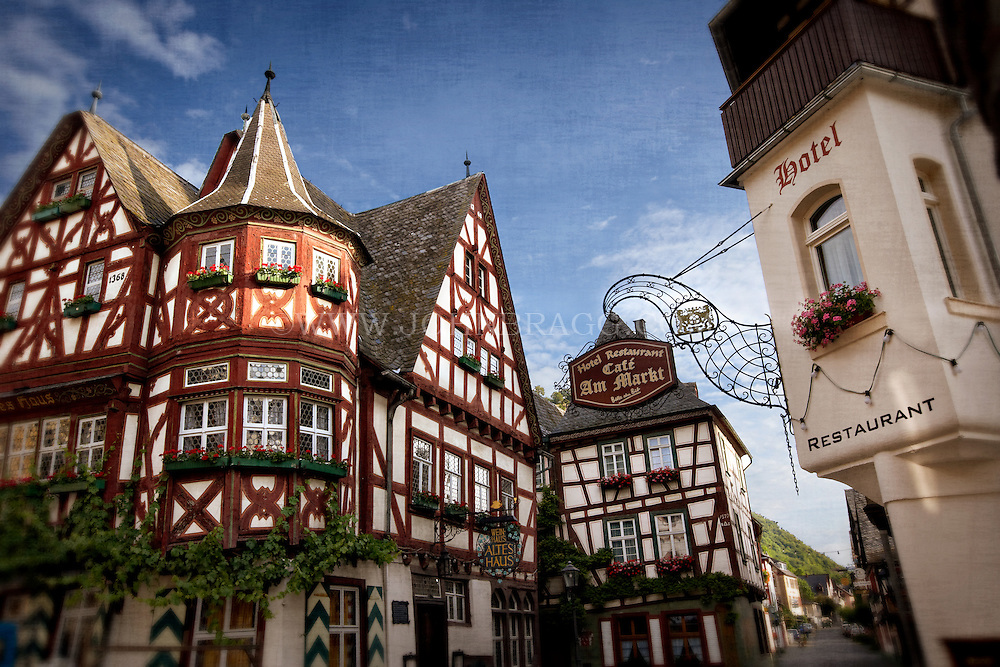 Tudor Architecture photo of a cafe and hotel, and unique tudor style buildings in the