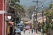 Street scene in the town of Valle de Angeles, Honduras on Friday April 26, 2013.