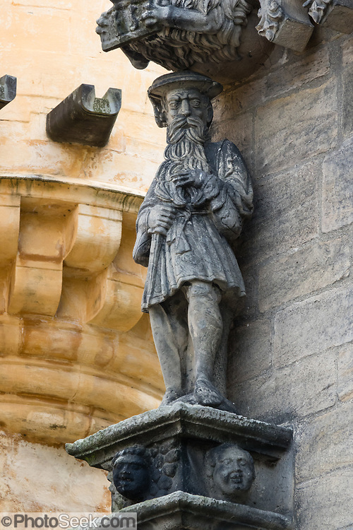 Statue of King James V of Scotland on the outside of the Royal Palace, in Stirling Castle, United Kingdom, Europe. Historically, Stirling controlled a strategic position (until the 1890s) as the lowest bridging point of the River Forth before it broadens towards the Firth of Forth, making it the gateway to the Scottish Highlands. One of the principal royal strongholds of the Kingdom of Scotland, Stirling was created a royal burgh by King David I in 1130. Most of the stronghold's main buildings date from the 1400s and 1500s, when it peaked in importance. Before the union with England, Stirling Castle was also one of the most used of the many Scottish royal residences, serving as both a palace and a fortress. Several Scottish Kings and Queens have been crowned at Stirling, including Mary, Queen of Scots in 1542, and others were born or died there. Stirling Castle has suffered at least eight sieges, including several during the Wars of Scottish Independence.