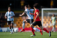 SYDNEY, NSW - FEBRUARY 28: Argentina player Florencia Bonsegundo (11) controls the ball at The Cup of Nations womens soccer match between Argentina and Korea Republic on February 28, 2019 at Leichhardt Oval, NSW. (Photo by Speed Media/Icon Sportswire)