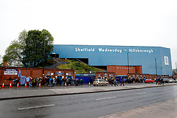 A general view as fans arrive at Hillsborough Stadium - Mandatory by-line: Matt McNulty/JMP - 17/05/2017 - FOOTBALL - Hillsborough - Sheffield, England - Sheffield Wednesday v Huddersfield Town - Sky Bet Championship Play-off Semi-Final 2nd Leg