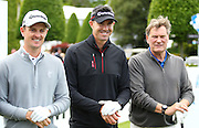 Justin Rose, Kevin Pietersen AND Glenn Hoddle at the BMW PGA Championship Celebrity Pro-Am Challenge at the Wentworth Club, Virginia Water, United Kingdom on 20 May 2015