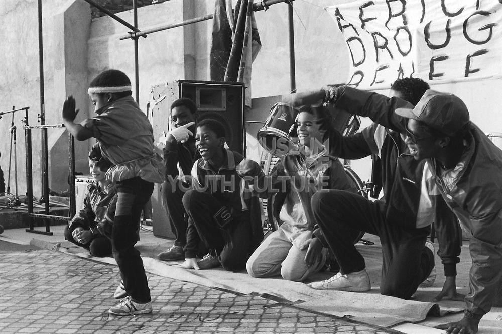 Breakdancing On The Main, Body Poppin', St Paul's Carnival, Bristol, 1986