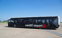 CARDIFF, WALES - Sunday, September 7, 2014: Wales players board the plane at Cardiff Airport as the squad flies to Andorra ahead of the opening UEFA Euro 2016 qualifying match. (Pic by David Rawcliffe/Propaganda)