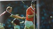 Cork's Kevin Hennessy and Galway's Sean Treacy in the 1990 All-Ireland Final.