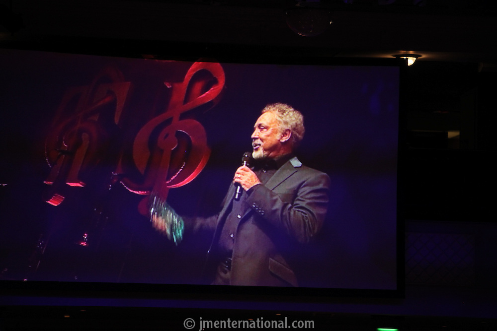 Tom Jones, the 2011 MITs Award. Held at the Grosvenor Hotel London in aid of Nordoff Robbins and the BRIT School. Monday, Nov.7, 2011