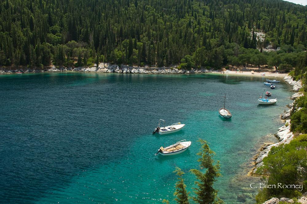 Foki Cove and Beach near Fiskardo;  Kefalonia, the Ionian Islands, Greece