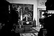 Matteo Renzi in conferenza stampa a Palazzo Chigi sul tema dell'immigrazione con il primo ministro di Malta Joseph Muscat, , Roma 20 aprile 2015.  Christian Mantuano / OneShot <br /> <br /> <br /> Matteo Renzi during a press conference on the immigration issue at Palazzo Chigi, with the Prime Minister of Malta Joseph Muscat, Roma 20 April 2015. Christian Mantuano / OneShot