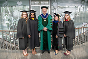 President M. Duane Nellis poses for a photo at Graduate Commencement. Photo by Ben Siegel