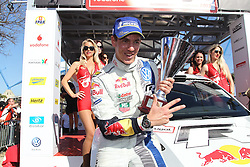 13.04.2013, Loule, POR, FIA WRC, Rallye Portugal, Podium, im Bild INGRASSIA Julien ( VOLKSWAGEN MOTORSPORT (DEU)/ VOLKSWAGEN POLO R WRC ), Jubel, Freude, Emotionen,, celebrate on Podium // after the FIA WRC Rallye of Portugal, Loule, Portugal on 2013/04/13. EXPA Pictures © 2013, PhotoCredit: EXPA/ Eibner/ Alexander Neis..***** ATTENTION - OUT OF GER *****