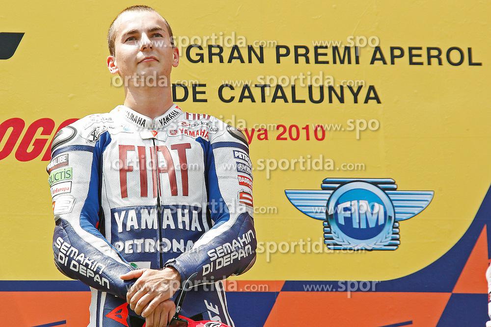 04.07.2010, Montmelo, Barcelona, ESP, MotoGP, Grand Prix von Katalonien im Bild Jorge Lorenzo - Fiat Yamaha team, EXPA Pictures © 2010, PhotoCredit: EXPA/ InsideFoto/ Semedia *** ATTENTION *** FOR AUSTRIA AND SLOVENIA USE ONLY! / SPORTIDA PHOTO AGENCY