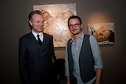 GARY KEMP; JONATHAN YEO, ' You're Only Young Twice' Jonathan Yeo exhibition. Lazarides. 11 Rathbone Place. London. 9 December 2011.