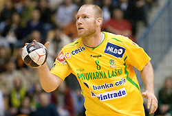 Ales Pajovic of Celje at handball quarter final EHF Cup match between RK Celje Pivovarna Lasko and SG Handewitt Flensburg, on April 3, 2010, Dvorana Zlatorog, Celje, Slovenia.  (Photo by Matic Klansek Velej / Sportida)