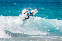 Summer Macedo of Hawaii winning the Women's Heat 4 of Round Three at the 2018 Jeep World Junior Championship at Kiama, NSW, Australia.