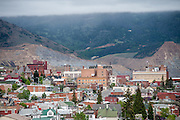 Overview from above of Butte, Montana, looking towards the Berkeley Pit.